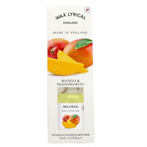 Mango & Passionfruit Fragranced Mini Reed Diffuser Made In England Wax Lyrical 50ml
